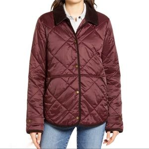 Barbour Doncaster Quilted Jacket Burgundy Size 6